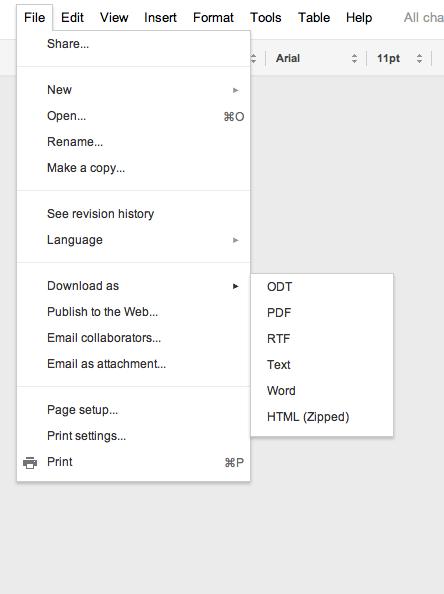 google docs not exporting images pdf