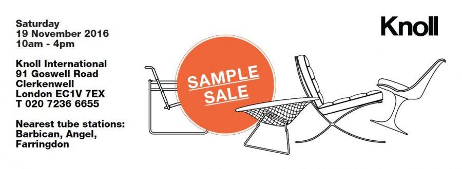 knoll uk sample sale