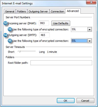 hotmail manual setup
