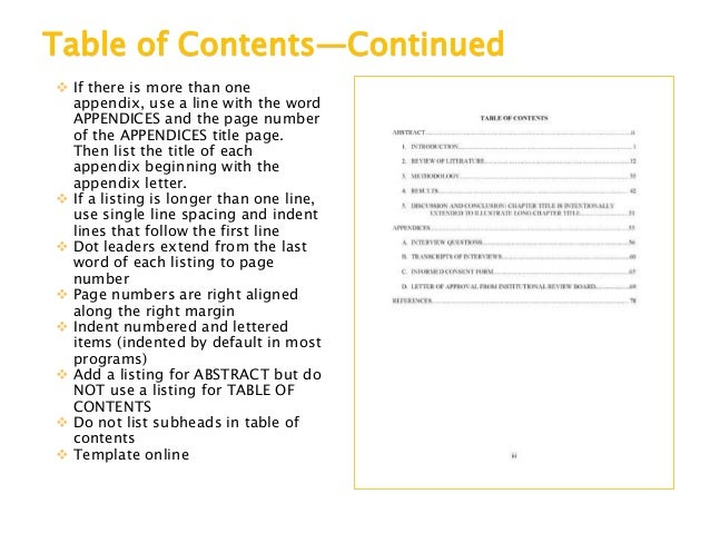 manual table of contents word 2016