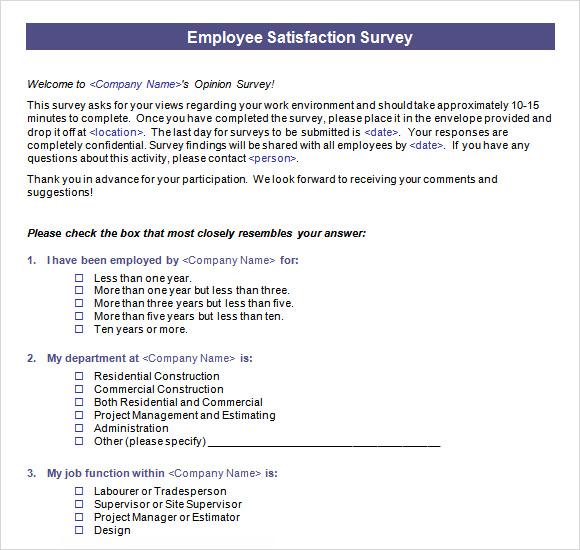 employee engagement survey questionnaire pdf