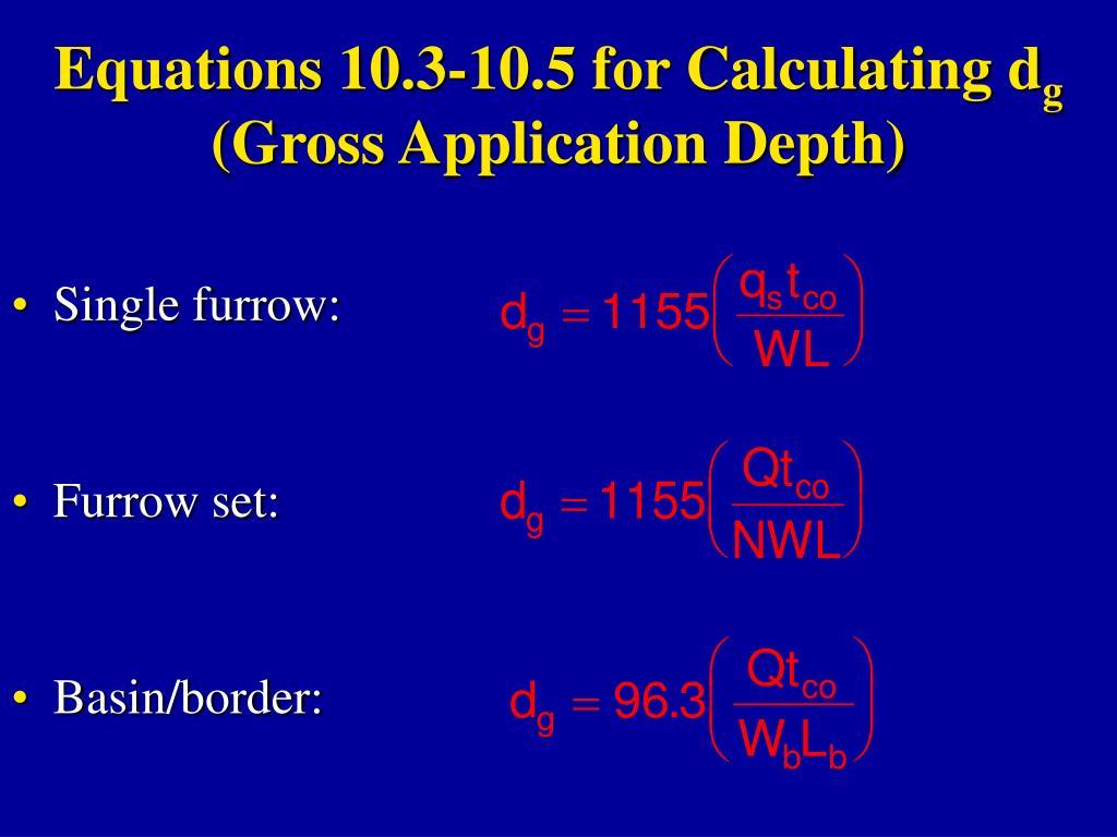 irrigation application depth