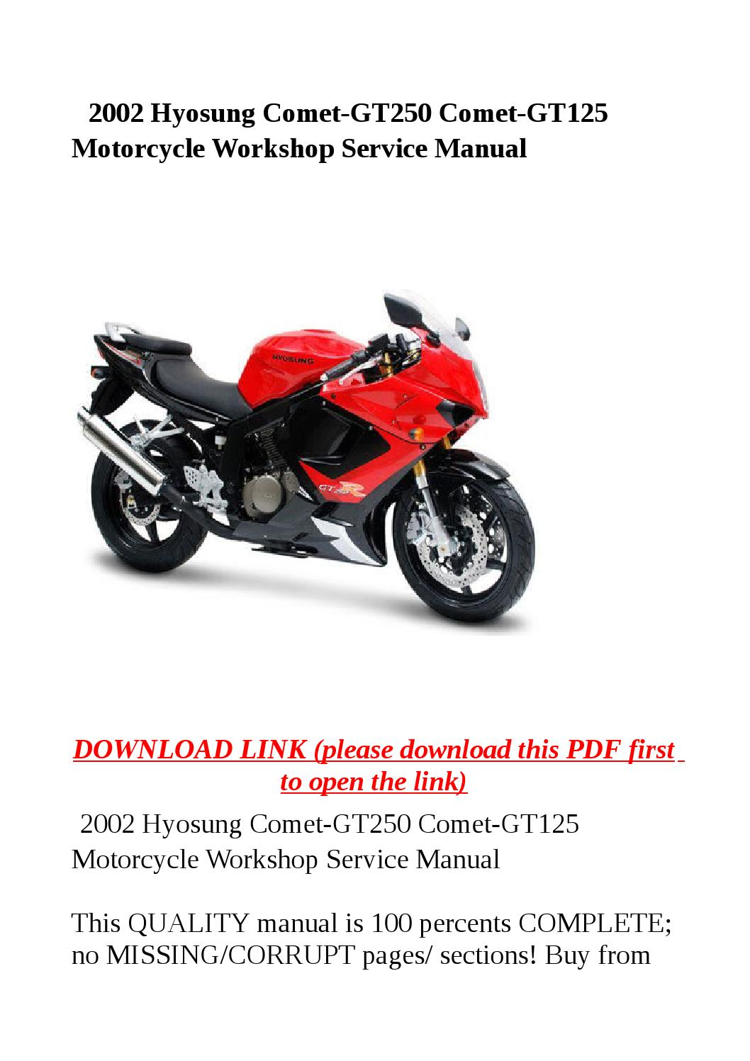hyosung gt250 manual
