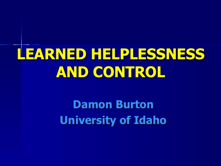free pdf download learned helplessness