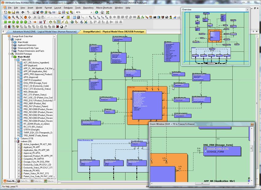 er studio data architect data dictionary