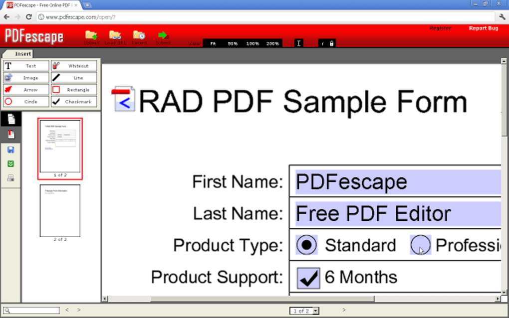 edit pdf fields online