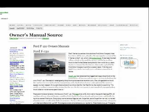 ford f150 owners manual free