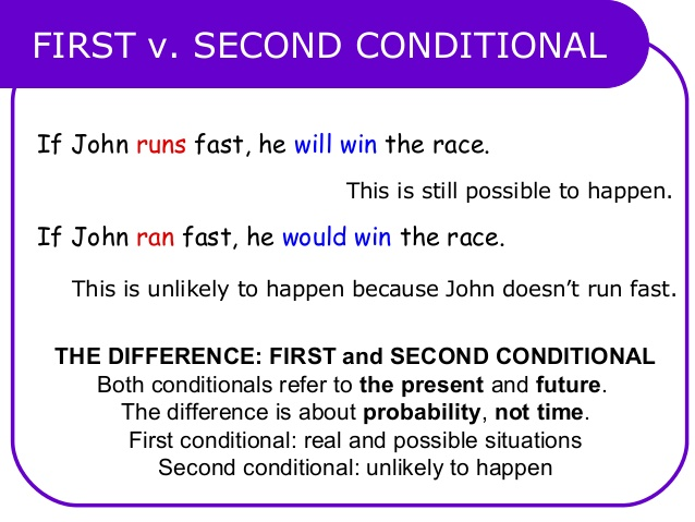first and second conditional exercises pdf