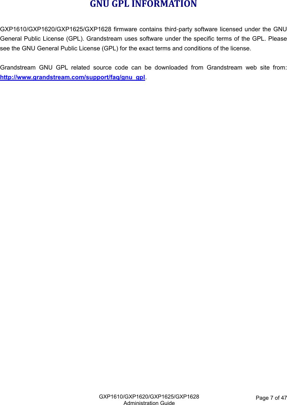 gxp1628 user manual