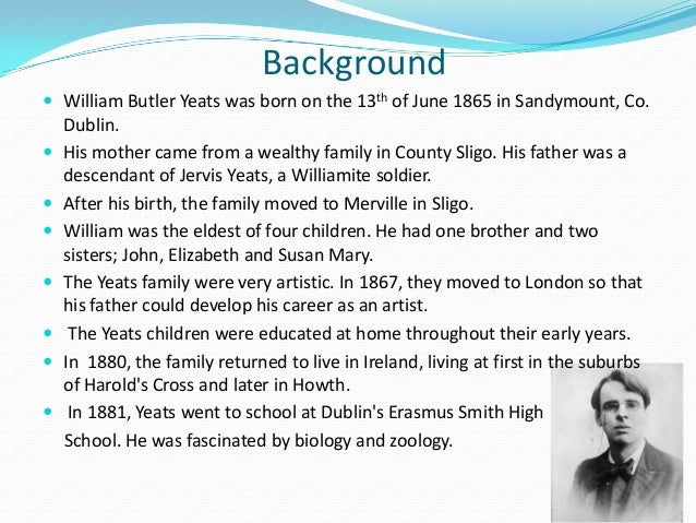 in memory of wb yeats pdf