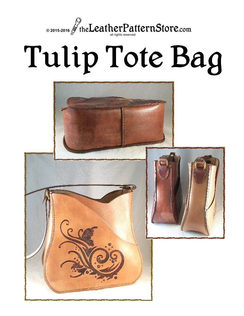 leather tote bag pattern pdf
