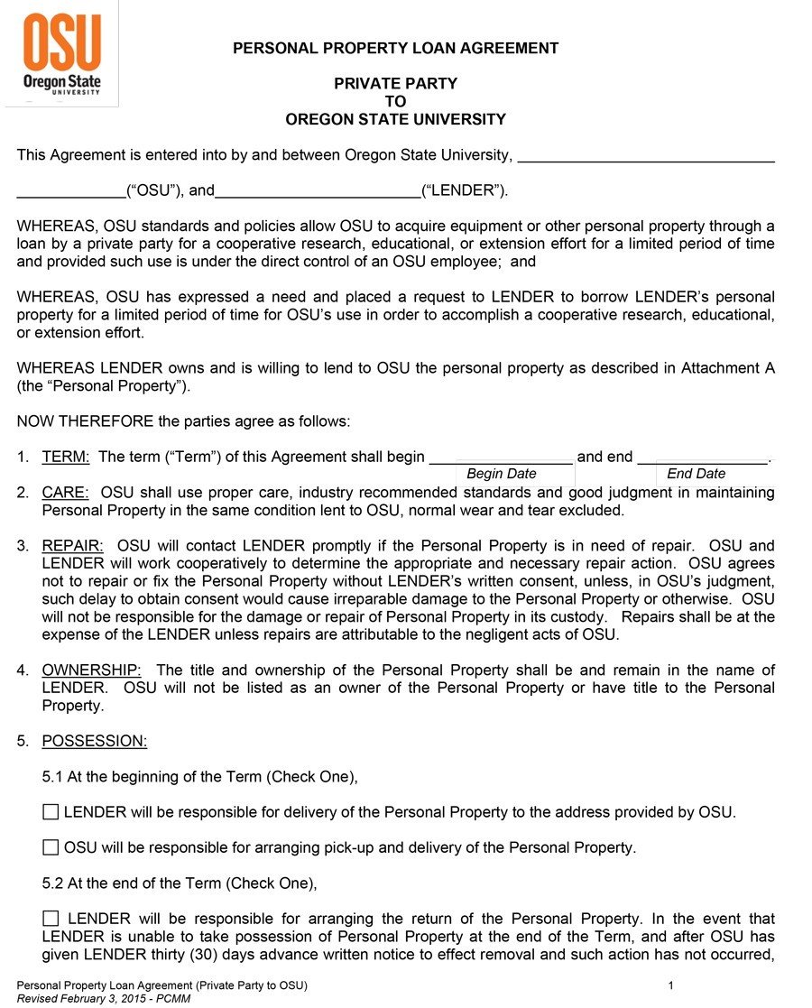 loan agreement pdf